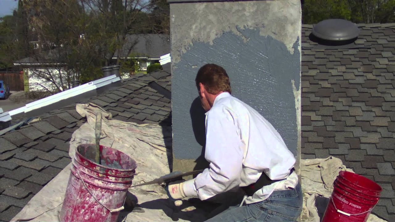 Maintenance free color coat on a chimney never paint - Try out exterior paint colors online ...