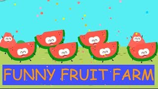 Learning Kinds of Fruits Vegetables In funny Fruit Farm | Educational Game for Kids