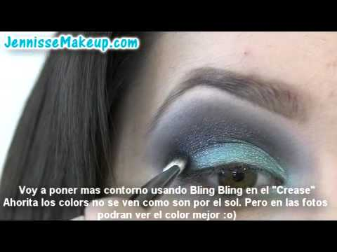 Glam Couture: Aqua & Gray Eye Shadow Tutorial