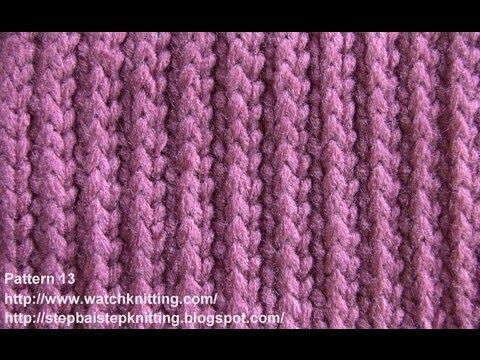 450 Knitting Stitches Free Download : (Striped Stitch) - Simple Patterns - Free Knitting Patterns Tutorial - Watch ...