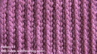 (Striped stitch) - Simple Patterns - Free Knitting Patterns Tutorial - Watch Knitting - pattern 13