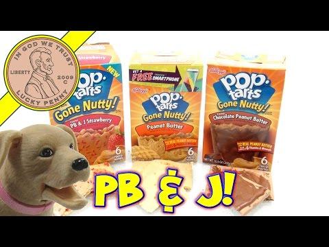 Kellogg's Pop-Tarts Gone Nutty Peanut Butter Strawberry & Chocolate - 3 Tasty Flavors!