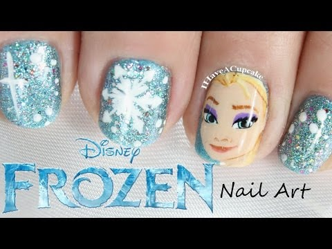 Frozen Nail Art  - Elsa Music Videos