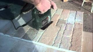 pannelli di pietra ricostruita : montaggio.