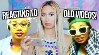 REACTING TO OLD YOUTUBE VIDEOS   MyLifeAsEva