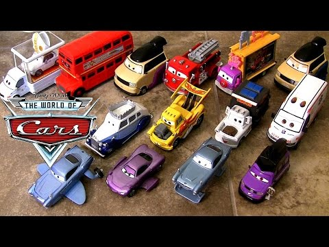 Pixar Cars 2 Deluxe Diecast Collection Checklist 2014 Themes Ambulance Alfredo Allinol Blowout