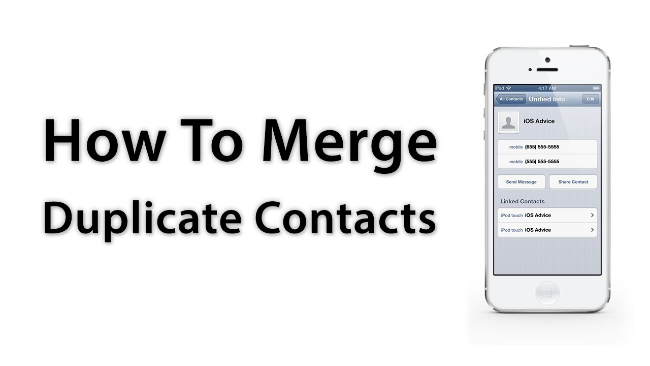 [iOS Advice] How To Merge Duplicate Contacts