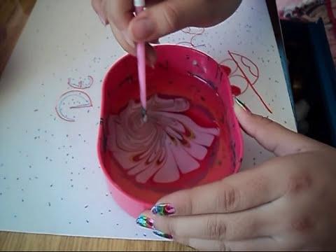 manicure en agua !!