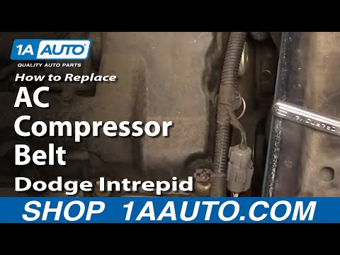 Auto Repair Replace AC Compressor Belt Dodge Intrepid 98-04 2.7L 1AAuto.com