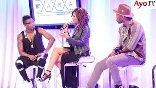Diamond Platnumz alivyojibu kwa kujiamini maswali ya Waandishi MTV Mama Awards 2015 South Africa
