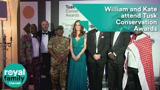 Prince William and Kate attend Tusk Conservation Awards