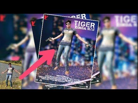 Tiger ZINDA HAI || PicsArt editing Tutorial || Tiger ZINDA HAI movie poster || PicsArt Manipulation