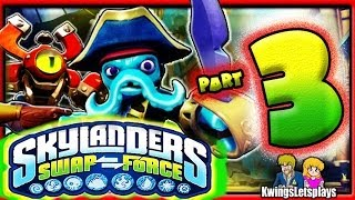 Skylanders Swap Force Wii U - Walkthrough Part 3 Save the Chieftess co-op Gameplay!