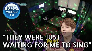 """Woohyun """"They were just waiting for me to sing."""" [Happy Together/2018.10.11]"""