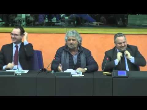 Beppe Grillo a Strasburgo:  #FuoriDallEuro - INTEGRALE