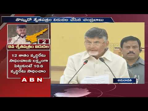 CM Chandrababu Speaks to Media | Releases 9th white paper | Vijayawada | Part 1