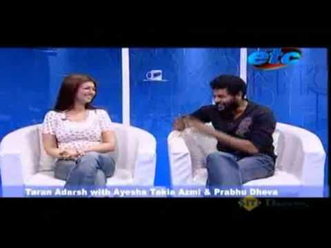 Ayesha Takia Azmi & Director Prabhu Deva on their upcoming Wanted