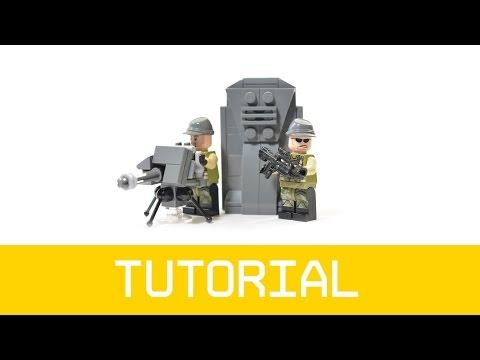 LEGO Halo UNSC Turret & Barrier Tutorial