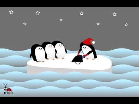 Funny  Merry Christmas Animation Penguin Santa !!!! С Рождеством !!!! Смешная открытка !