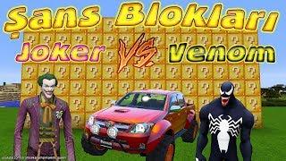 Örümcek Çocuk Şans Blokları Challenge Joker vs Venom Kapışması Minecraft Maceraları