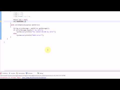 Learning Java: Part 17: Catching errors using Try and Catch