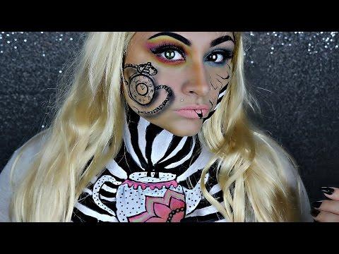 Alice in wonderland halloween makeup