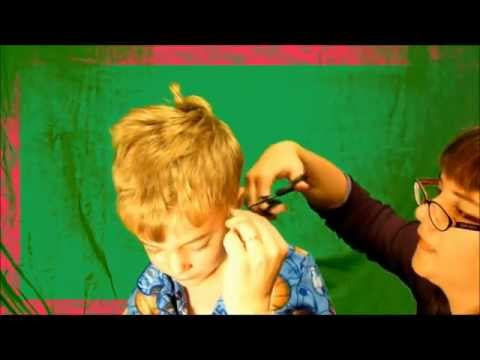 Beginners boys haircuts   The wiggler!  (5 yrs old ) Part 3 New Year / Holiday