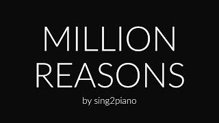Million Reasons Piano Karaoke Lady Gaga