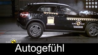 Mercedes Benz GLA crash test Euro NCAP and Collision Prevention Assist Plus