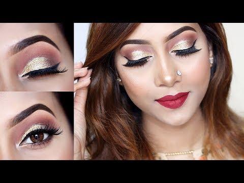 EID Makeup Tutorial 2017 Ll Glittery Eyes