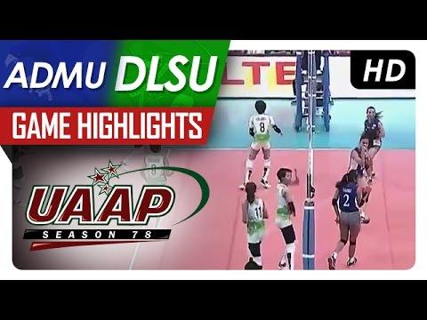 UAAP 78 WV: DLSU vs ADMU Game Highlights