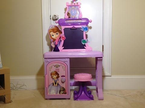 Disney Junior Sofia the First Royal Prep Talking School Desk Learn with Sofia Toys Video Unboxing