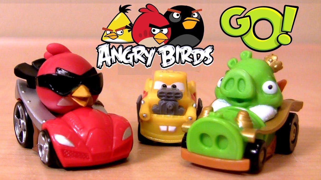 Angry Birds Go Toys : Micro drifters angry birds go cars pig rock raceway dual