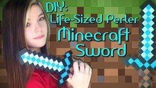 DIY: Life-Sized Perler Minecraft Sword