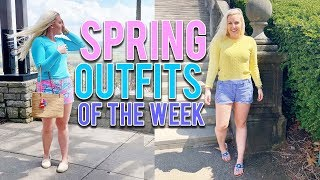 SPRING OUTFITS OF THE WEEK (Lilly Pulitzer, J.Crew, Jack Rogers & MORE!) || Kellyprepster