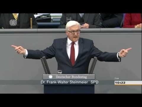 Frank-Walter Steinmeier (SPD) - Bundestagsdebatte: Neonazi-Terror