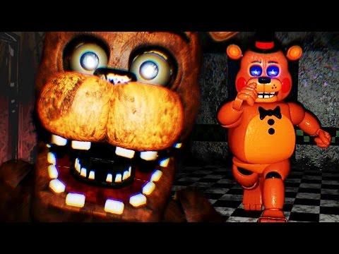 CHASED BY TOY FREDDY || FNAF 2 3D (FREE ROAM Five Nights at Freddys)