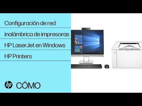 Configuración de red inalámbrica de impresoras HP LaserJet en Windows | HP Printers | @HPSupport