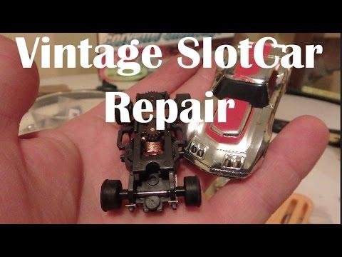 How To: Aurora AFX Slot Car Gear Repair - Slipping Rear Wheels