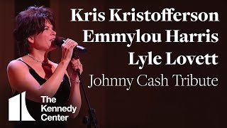 Download Song Kris Kristofferson, Lyle Lovett, Emmylou Harris (Johnny Cash Tribute) - 1996 Kennedy Center Honors Free StafaMp3