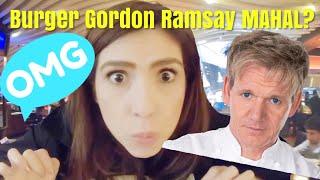 BULE reaksi makan Chef Gordon Ramsay's burger   EXTRA MOUTHWATERING burger at Gordon Ramsay (gopro)