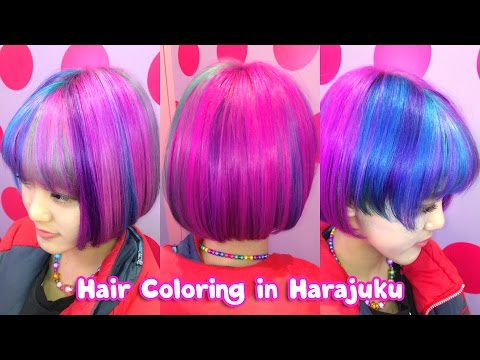 Kawaii Hair Color at a Popular Harajuku Salon