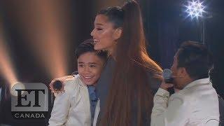 Ariana Grande Surprises TNT Boys On Stage, Talks 'Nonexistent' Personal Life