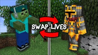 Minecraft MC NAVEED AND MARK THE FRIENDLY ZOMBIE SWAP LIVES / ZOMBIE SURVIVAL !! Minecraft Mods