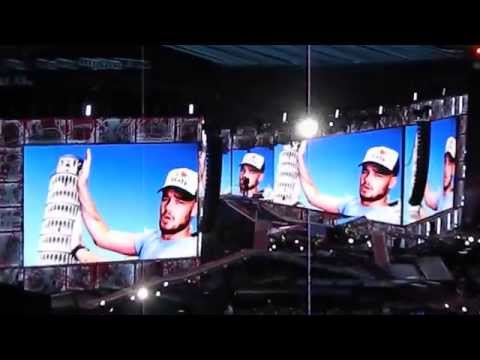 One Direction - Where We Are Tour Opening/Intro in Italy, June 29th 2014