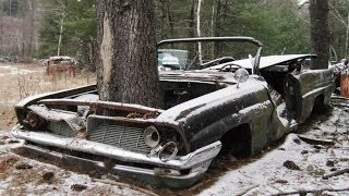 Брошеные в лесу ретро автомобили часть 1 (Abandoned vintage cars in the woods part 1)