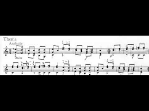 Theme and variations - F.Molino, Robert Gabrielsen, Guitar