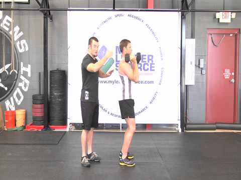 How to do a Dumbbell Push Press - Weightlifting Exercise Image 1