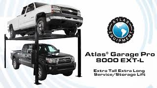 Atlas® Garage Pro 8000 EXT-L 4 Post Lift (EXTRA TALL, EXTRA LONG)