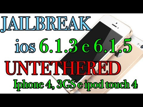 Como fazer o Jailbreak 6.1.3 e 6.1.5 Iphone 4. 3GS Ipod touch 4 UNTETHERED Portugues